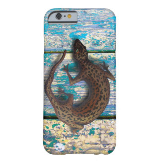 LÉZARD SUR le VIEUX BOIS par Slipperywindow Coque iPhone 6 Barely There