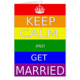 LGBT - Le mariage homosexuel maintiennent calme et Carte De Vœux
