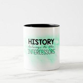 L'histoire appartient tasse de café