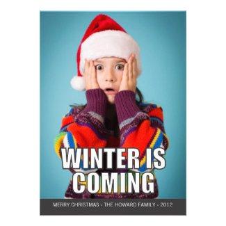 L'hiver est prochaine carte de vacances de Meme Invitations Personnalisées