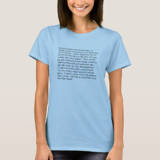 L'homme est un T-shirt de femmes de créature de