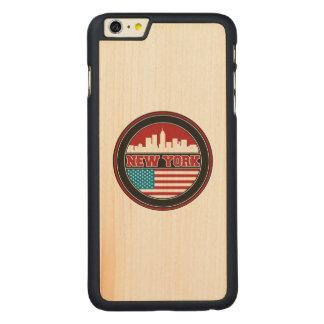 L'horizon | Etats-Unis de New York diminuent Coque Mince En Érable iPhone 6 Plus