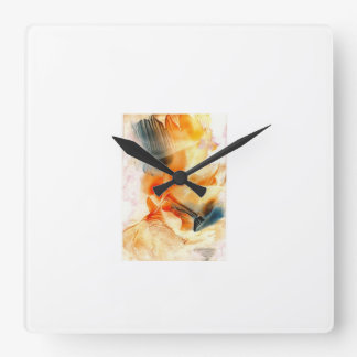 l'horloge avec le print horloge carrée