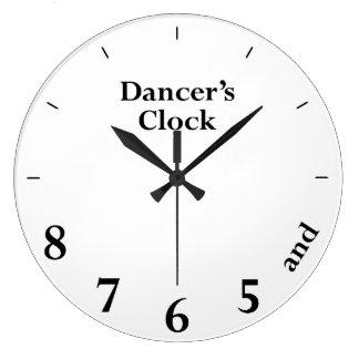 L'horloge du danseur grande horloge ronde