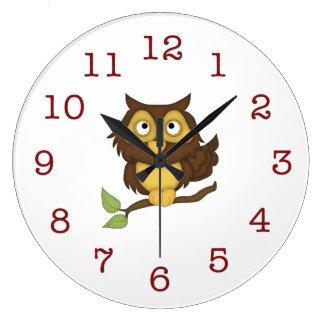 L'horloge murale/milieu de l'enfant mignon de grande horloge ronde