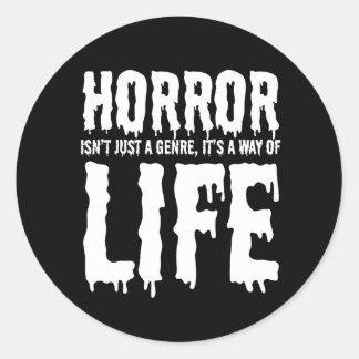 L'horreur de Hellhound est autocollant de la vie