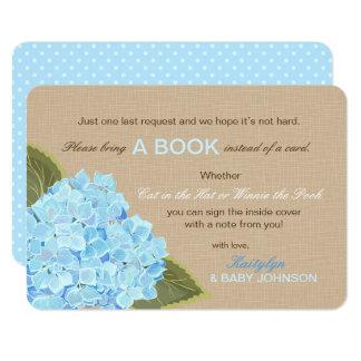 L'hortensia bleu rustique a lu une carte de livre