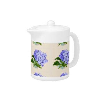 L'hortensia pourpre fleurit le motif vintage