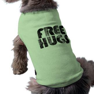 Libérez les étreintes t-shirt pour animal domestique