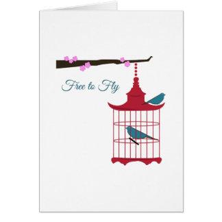Libérez pour voler cartes de vœux