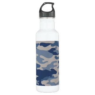 Liberté Bottleworks de bleus marine de Camo Bouteille D'eau