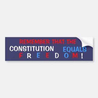 Liberté constitutionnelle autocollant de voiture