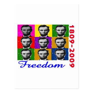 LIBERTÉ d'Abe Lincoln 1809 2009 cadeaux uniques Carte Postale