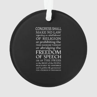 Liberté de parole déclaration de texte des droits