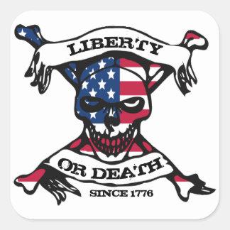 Liberté ou autocollant de la mort