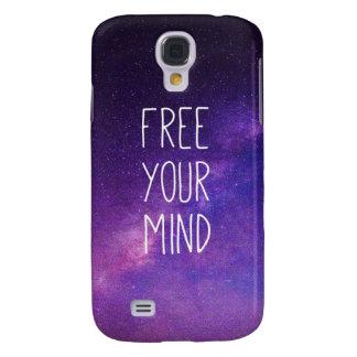 """Libre ciel nocturne de bleu de citation de votre Coque Galaxy S4"