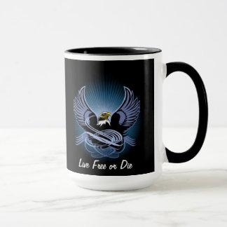 Libres vivants ou meurent tasse