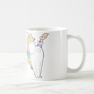 Licorne d'arc-en-ciel mug blanc