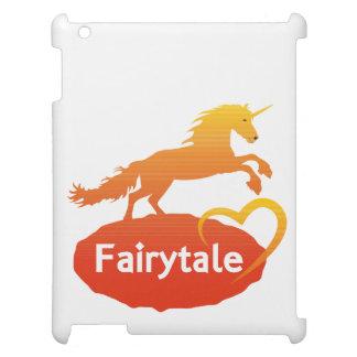 Licorne de conte de fées avec amour coque iPad