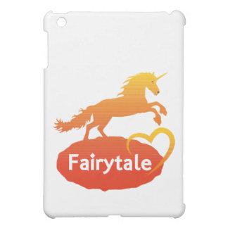 Licorne de conte de fées avec amour coque iPad mini
