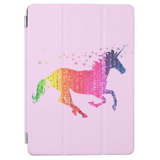 Licorne de rose d'arc-en-ciel protection iPad air