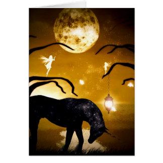 Licorne d'imaginaire et carte de fée