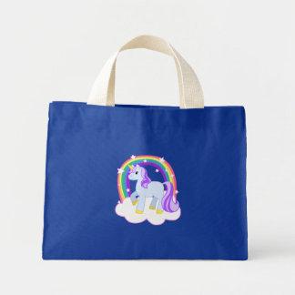 Licorne magique mignonne avec l'arc-en-ciel (perso mini tote bag