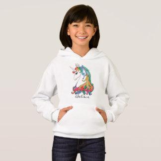 Licorne mignonne d'arc-en-ciel d'aquarelle