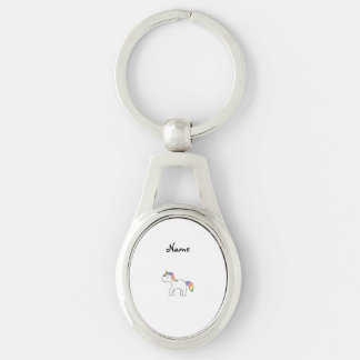 Licorne nommée personnalisée de bébé d'arc-en-ciel porte-clés