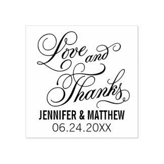 Liefde en Bedankt | Huwelijk Rubberstempel