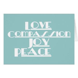 Liefde, Medeleven, Vreugde, Vrede Wenskaart
