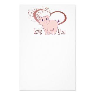 Liefde u, Leuk Art. Piggy Briefpapier