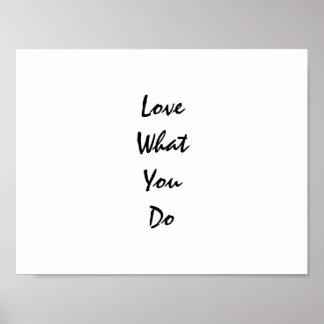 Liefde Wat u Inspirerend Typografie doet Poster