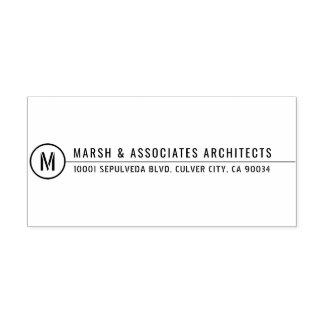 Ligne architecturale minimale monogramme de titre tampon auto-encreur
