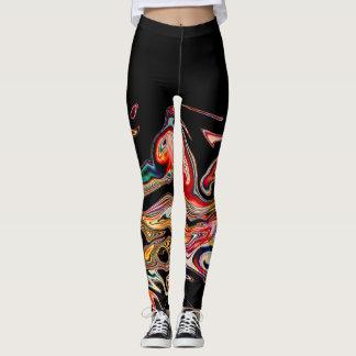 Ligne colorée abstraite leggings