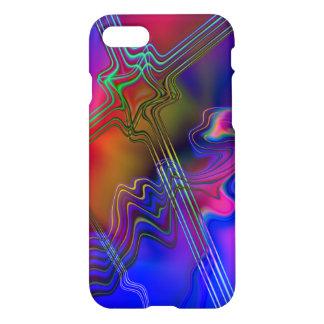 Ligne colorée abstraite motif coque iPhone 7