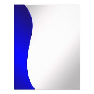 Ligne de bleu marine d'arrière - plan sur l'argent prospectus 21,6 cm x 24,94 cm