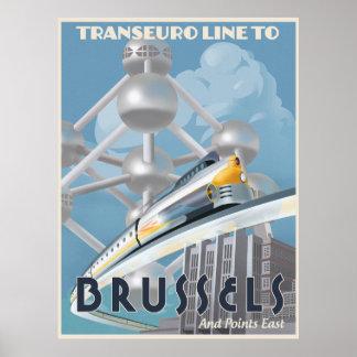Ligne futuriste de Transport-Euro