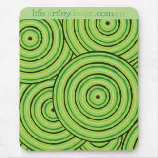 Ligne indigène tapis de souris de peinture