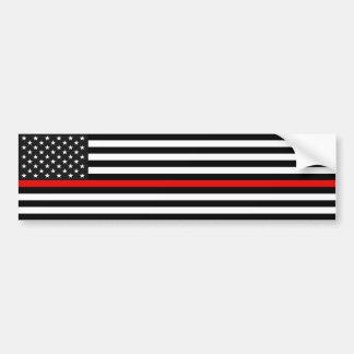 Ligne rouge mince drapeau américain autocollant de voiture