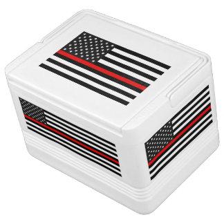 Ligne rouge mince drapeau américain glacière