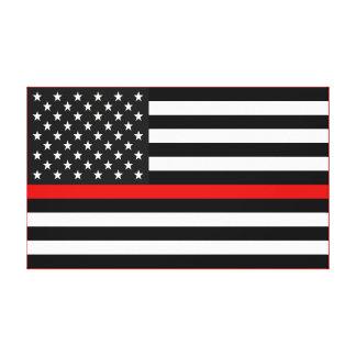 Ligne rouge mince drapeau américain toile