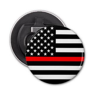 Ligne rouge mince graphique drapeau des USA Décapsuleur
