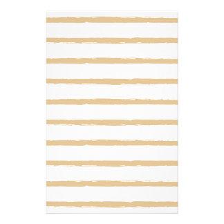Lignes approximatives blanches beiges motif de papeterie