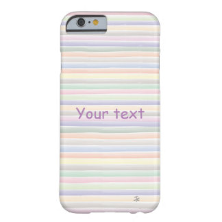 Lignes d'aquarelle coque barely there iPhone 6