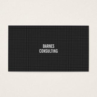 Lignes de grille noires simples simples cartes de visite