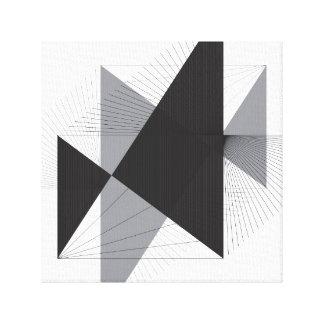 Lignes et triangles simples sur la toile