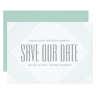 Lignes modernes carton d'invitation  12,7 cm x 17,78 cm