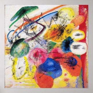 Lignes noires affiche de Kandinsky