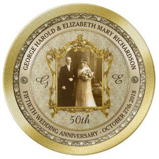 Lijst van de Foto van het Jubileum van de gouden Porseleinen Bord